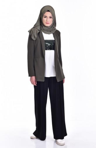 Blouse Jacket Double Suit 8914-07 Khaki 8914-07