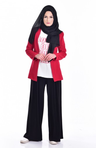 Blouse Jacket Double Suit 8912-07 Red 8912-07