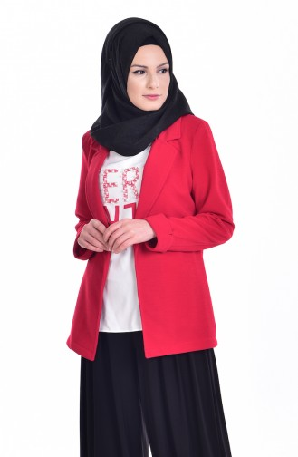 Jacket Blouse Double Suit 8913-08 Red 8913-08