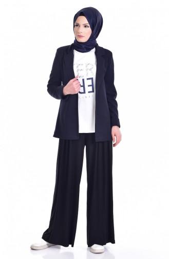 Jacket Blouse Double Suit 8913-04 Navy Blue 8913-04