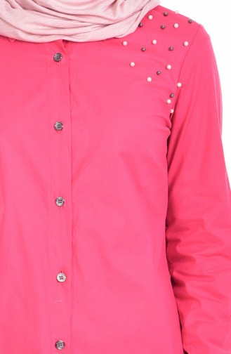 Shirt with Pearls 6925-04 Coral 6925-04