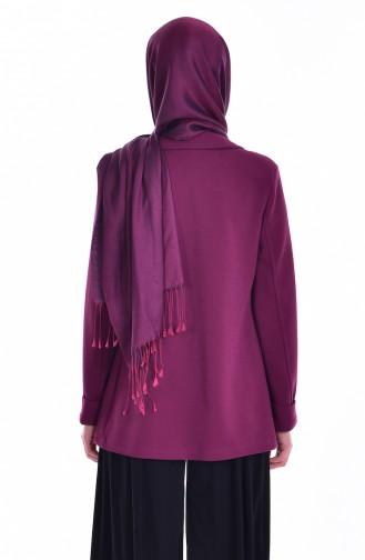 Ceket Bluz İkili Takım 8913-01 Mürdüm 8913-01