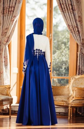 Saxon blue İslamitische Avondjurk 7174-01