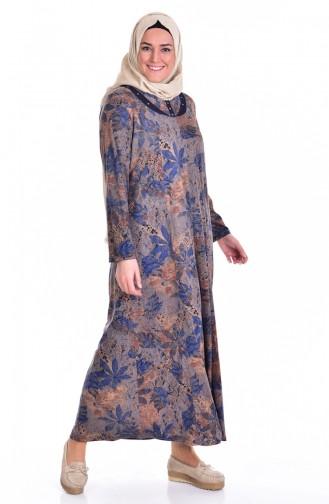 Saxon blue İslamitische Jurk 4438-10