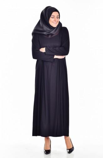 Robe Garnie Grande Taille 4436-04 Noir 4436-04