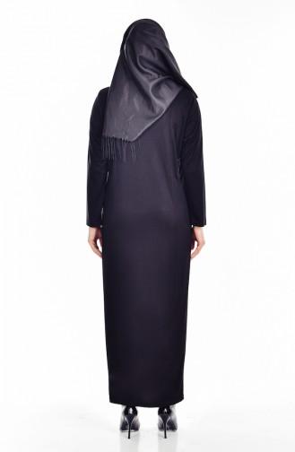 فستان سادة و بتفاصيل لامعة  4436-04