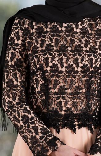 Robe de Soirée en Mousseline 7810-04 Saumon 7810-04