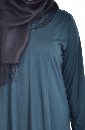 Large Size Garnish Dress 4436-07 Green 4436-07