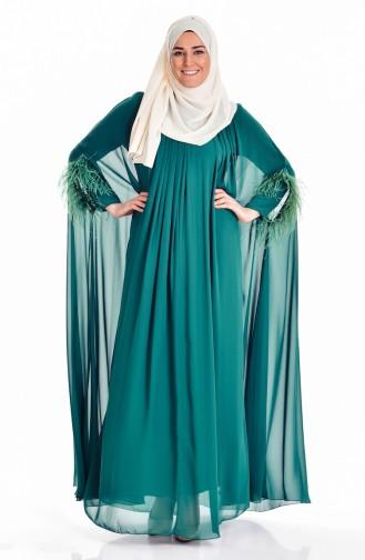 فستان بتصميم من الشيفون 2018002-01
