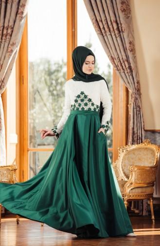 Emerald İslamitische Avondjurk 7174-02