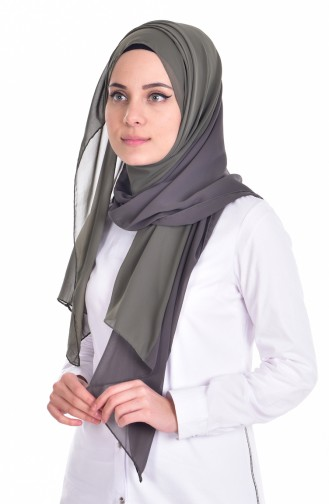 شال شيفون بتصميم سادة 9915-12
