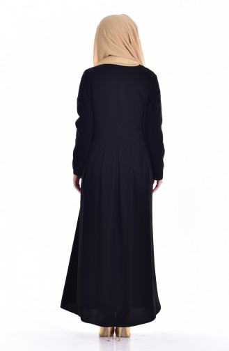 EFE Buttoned Pleated Dress 0122-01 Black 0122-01