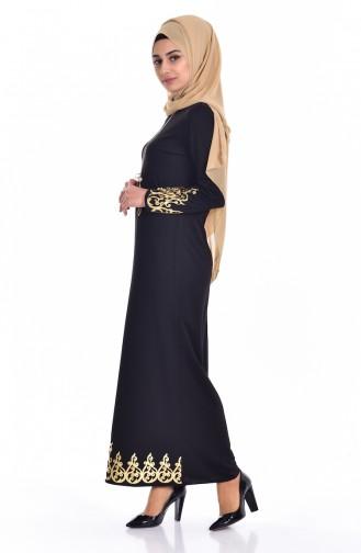 Black İslamitische Jurk 3326-01