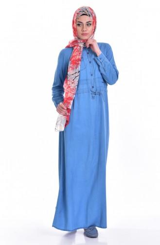 Jeans Blue İslamitische Jurk 5009-01