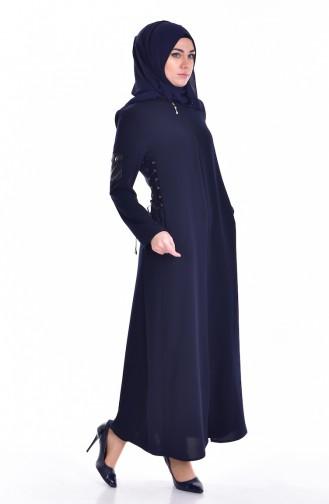 Navy Blue Abaya 24155-02