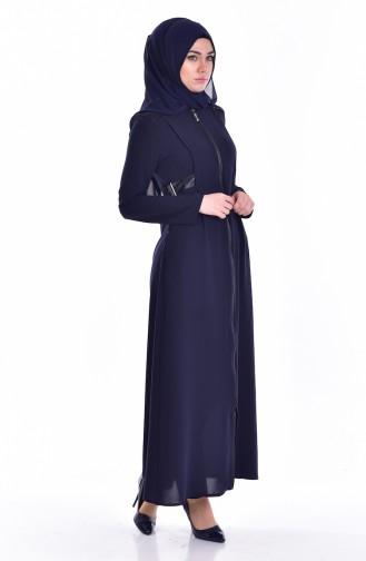 Garnili Abaya 24156-01 Navy Blue 24156-01
