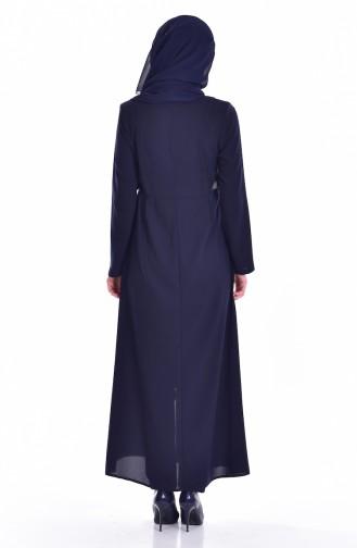 Navy Blue Abaya 24156-01