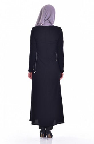 Abaya mit Reißverschluss 24155-01 Schwarz 24155-01