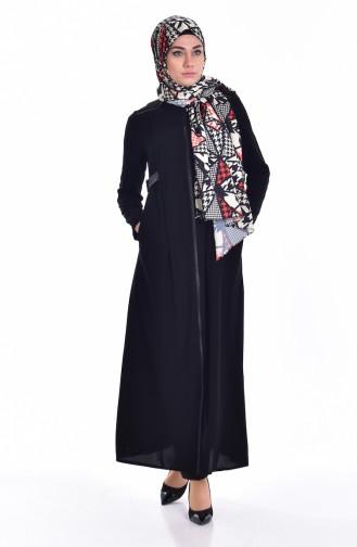 Garnished Abaya 24156-02 Black 24156-02