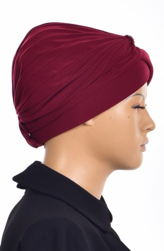 Pearl Ready Turban Bonnet 1007-05 Burgundy 1007-05