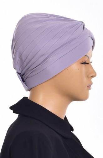 Bonnet Turban Prêt avec Perles 1007-08 Gris 1007-08