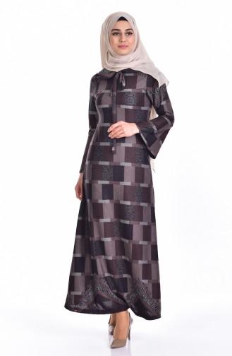 Dark mink İslamitische Jurk 5111-03