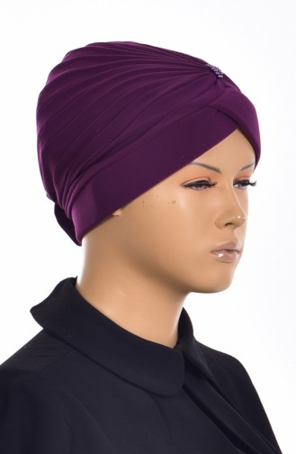 Purple Ready to wear Turban 1007-06