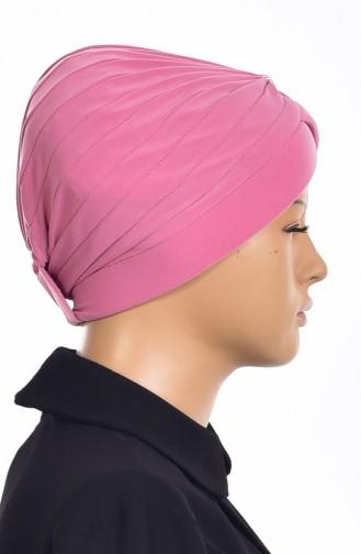 Bonnet Turban Prêt avec Perles 1007-11 Poudre 1007-11
