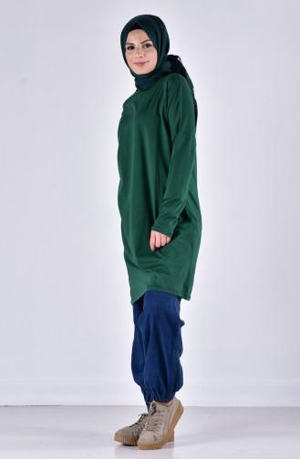 Sefamerve Oversize Peigné Hijab 0413-02 Vert 0413-02