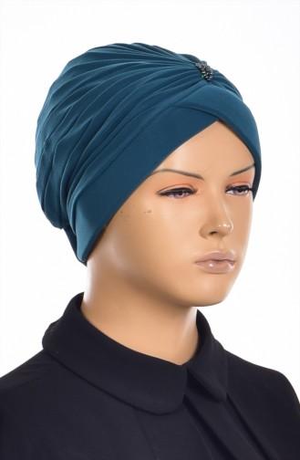 Pearl Ready Turban Bonnet 1007-12 Emerald Green 1007-12
