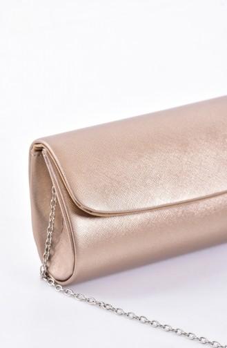 Damen Abendtasche 0475-02 Bronze Farbe 0475-02