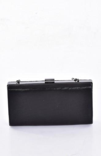 Ladies Evening Bag with Stones 0798-03 Black 0798-03