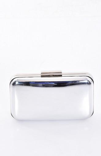 Silver Gray Portfolio Hand Bag 0270-02