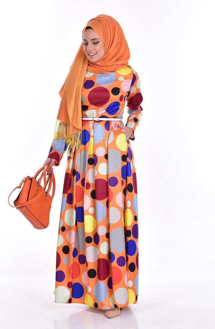 Orange Dress with Hood