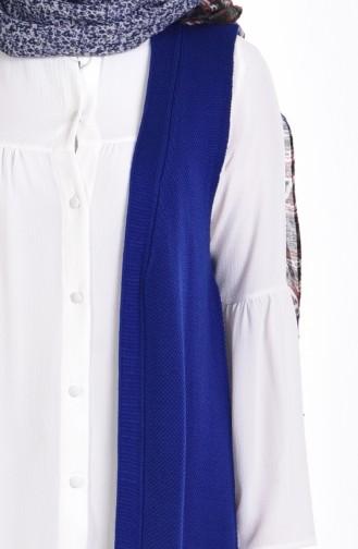 Pocket Detailed Vest 3944-13 Saxe Blue 3944-13