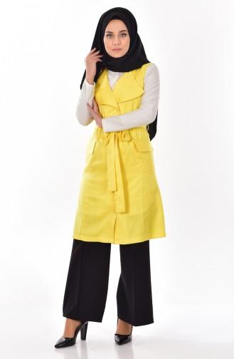 Vest with Belt 9362-02 Yellow 9362-02