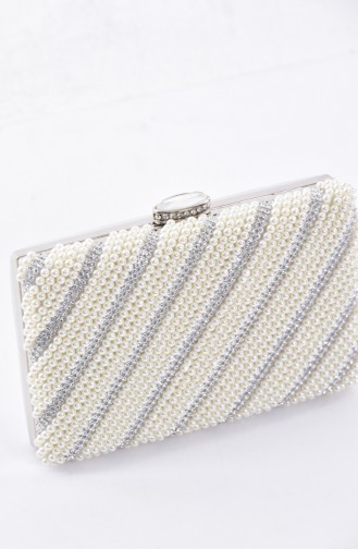 Ladies Pearl Evening Bag 0869-02 Pearl 0869-02