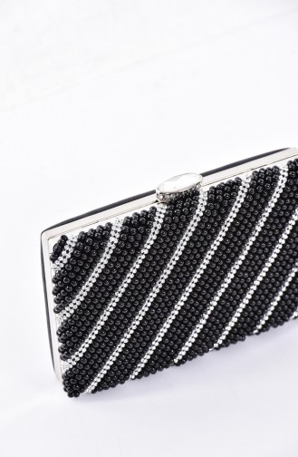 Ladies Pearl Evening Bag 0869-03 Black 0869-03
