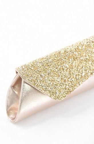 Gold Colour Portfolio Hand Bag 0421-01