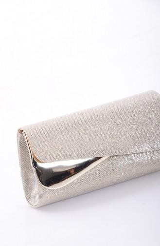 حقيبة يد لون ذهبي 0443-01