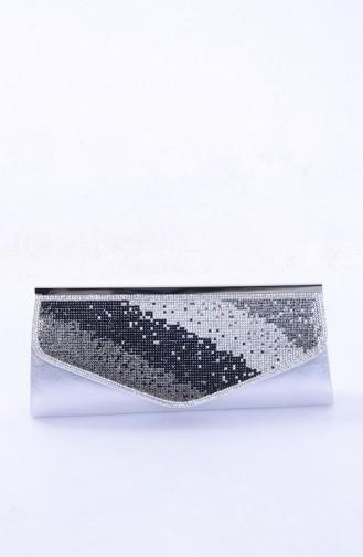 Silver Gray Portfolio Hand Bag 0306-02