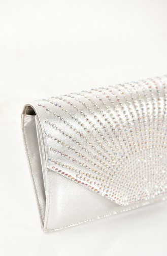 Ladies Evening Bag 0430-02 Silver 0430-02