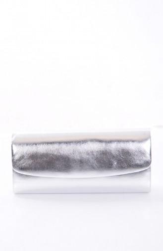 Silver Gray Portfolio Hand Bag 0477-02