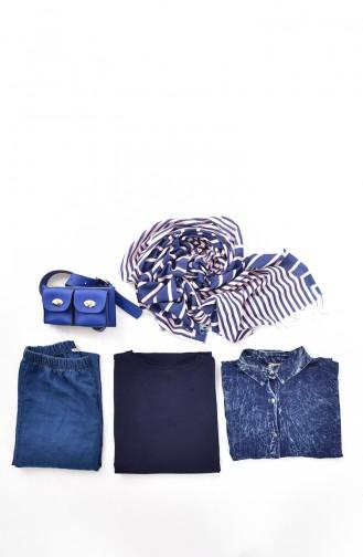 Navy Blue Tops 0414-04