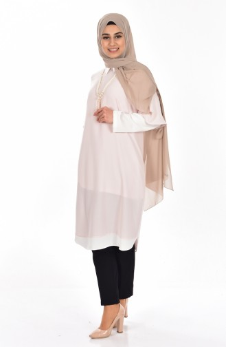 Garnished Tunic with Necklace 4011-05 Powder 4011-05