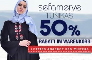 Bei Tunikamodellen 50 % im Warenkorb