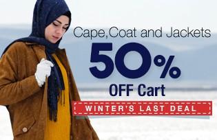 Capes, Coats and Jackets 50% OFF Cart