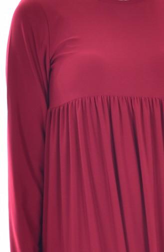 Robe Basic Plissée 1852-05 Bordeaux 1852-05