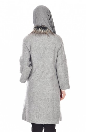 Mantel mit Kapuzen  50325A-02 Grau 50325A-02