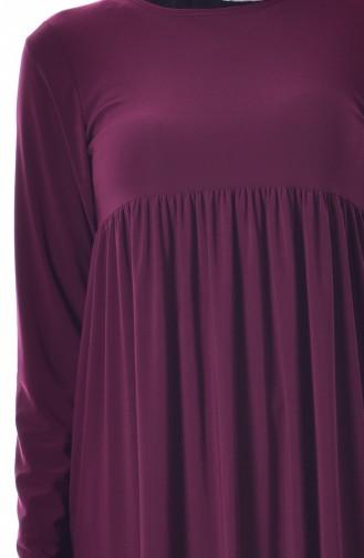 Robe Basic Plissée 1852-07 Plum 1852-07